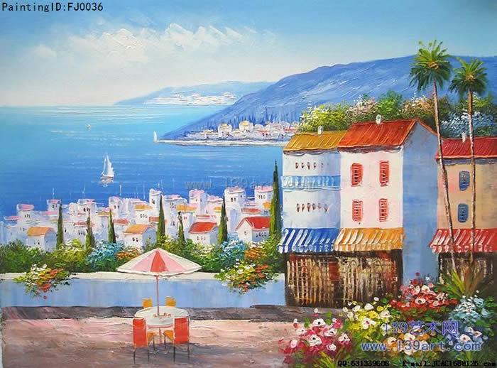 油画地中海风情