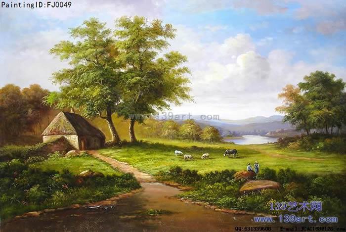 风景油画古典风景油画风景