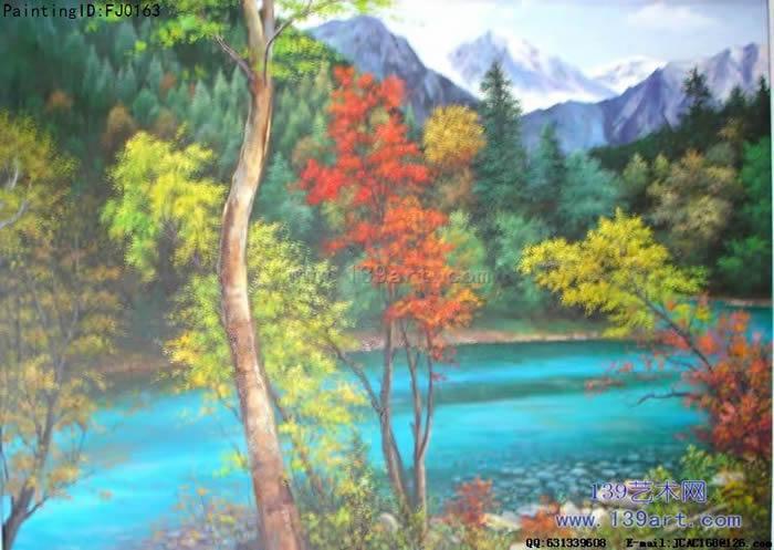 九寨沟 - 风景油画 - 中高档风景油画-1-北京市联油画