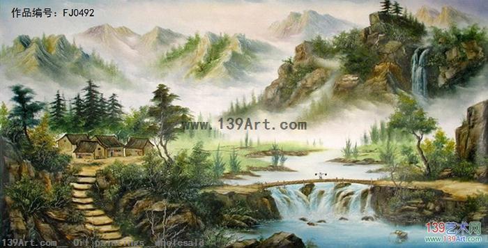 风景油画-中国风景油画-刀画风景