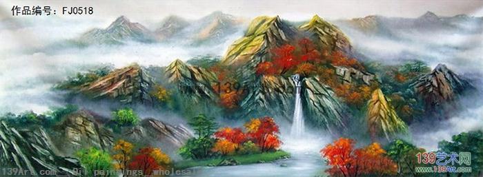 刀画风景 - 风景油画 - 中国风景油画 139艺术网官方