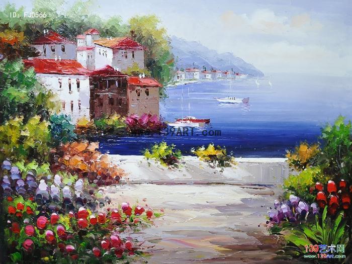 地中海风情 - 地中海风景油画