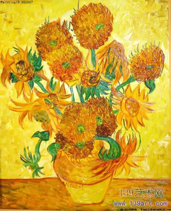 世界名画梵高世界名画向日葵图片