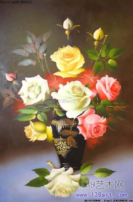 玫瑰花 绘画花朵 国简单玫瑰 -玫瑰花油画 玫瑰花动态图片 素描玫瑰图片