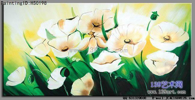 酒店油画,装饰花卉