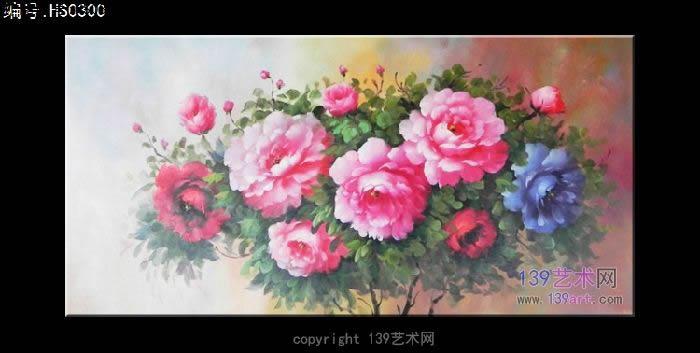 油画牡丹图 - 静物油画 - 印象花卉静物油画 139艺术.