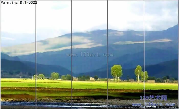 火车窗外 - 组合风景油画 - 风景油画-139艺术网官方