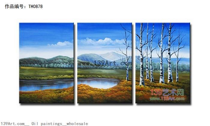 组合风景油画