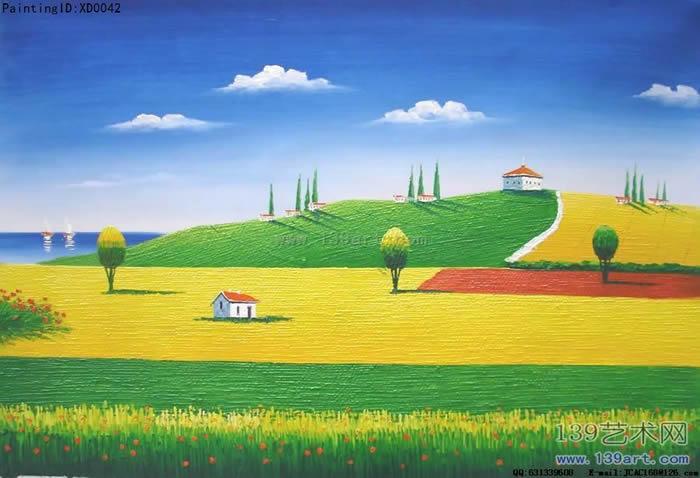 风景油画印象风景油画丰收