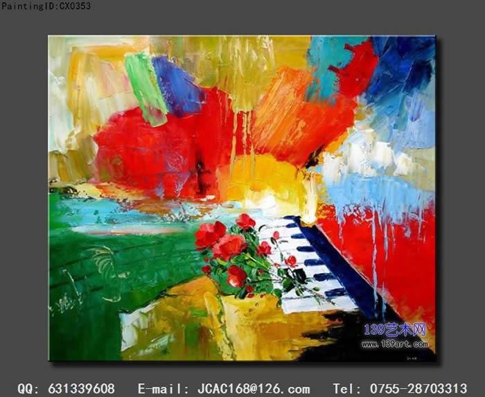 玫瑰音乐 - 抽象油画 - 抽象油画-139艺术网官方网站