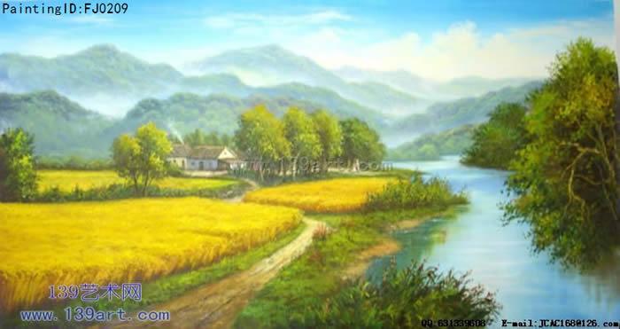 风景油画-中国风景油画-丰收在望