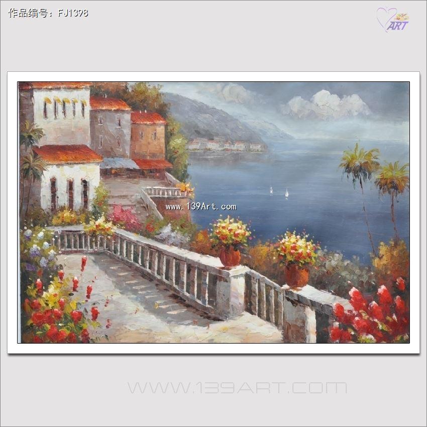 外框的油画作品,画面使用的材料是专用油画布/麻布,油画颜料/丙烯颜料
