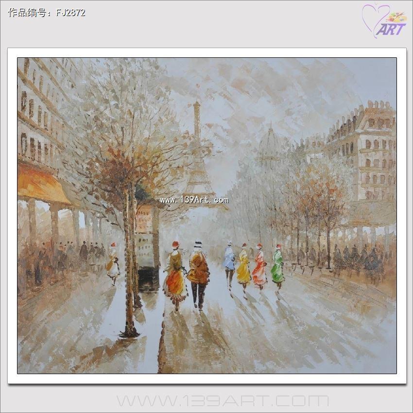 外框的油画作品,画面使用的材料是专用油画布/麻布,油画颜料/丙烯颜