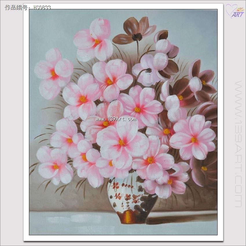 手绘图片花卉丙烯