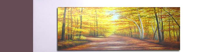 金色大道 - 风景油画 - 中高档风景油画-1-0 - 客厅