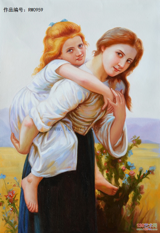 人物油画欧式人物油画女孩