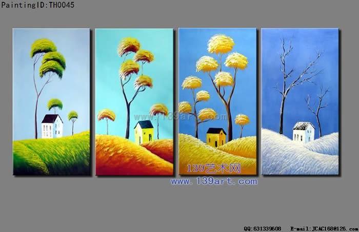 夏秋冬简单画的图片-怎么画春夏秋冬的简笔画-春夏秋冬图片 psd艺术图片