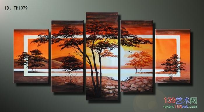 组合油画装饰组合油画风景